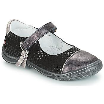 Zapatos Niña Bailarinas-manoletinas GBB RIKA Gris / Negro