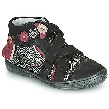 Zapatos Niña Botas de caña baja Catimini ROQUETTE Negro / Plata