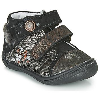 Zapatos Niña Botas de caña baja Catimini ROSSIGNOL Negro / Oro