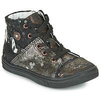Zapatos Niña Botas urbanas Catimini ROUSSEROLLE Vtc / Negro - cobre / Dpf / Dolby