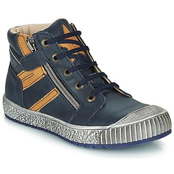 Zapatos Niño Botas de caña baja Catimini RAMBOUTAN Marino / Ocre