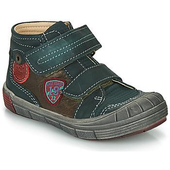 Zapatos Niño Botas de caña baja Catimini ROMARIN Verde / Marrón