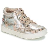 Zapatos Niña Zapatillas altas GBB SACHA Beige / Plateado