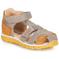Zapatos Niño Sandalias GBB SPARTACO Gris / Naranja