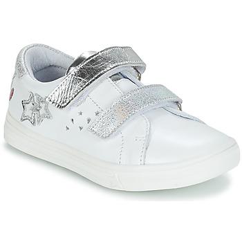 Zapatos Niña Botas urbanas GBB SANDRA Blanco / Plata