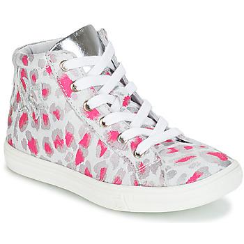 Zapatos Niña Zapatillas altas GBB SERAPHINE Gris / Rosa / Blanco