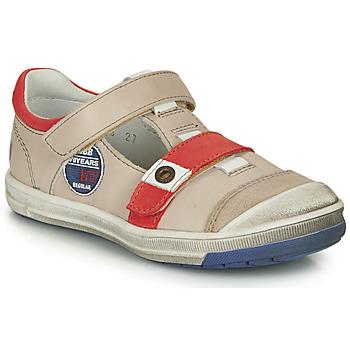Zapatos Niño Botas de caña baja GBB SCOTT Vtc / Beige-rojo / Dpf / Flash