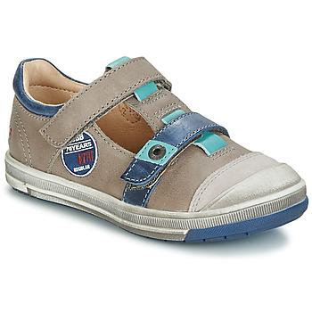 Zapatos Niña Bailarinas-manoletinas GBB SCOTT Gris / Azul
