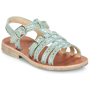Zapatos Niña Sandalias GBB BANGKOK Vte / Azul - lunares / Dorado / Dpf / Coca