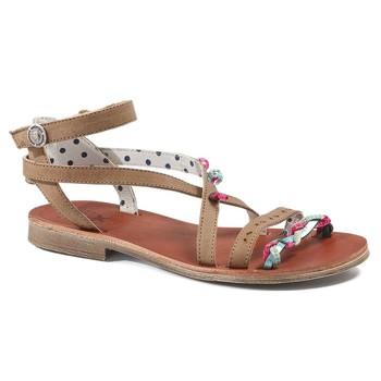 Zapatos Niña Sandalias Catimini SAPHIR Vte / Marron - turquesa / Dpf / Coca