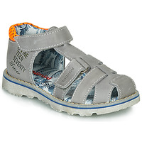 Zapatos Niño Sandalias Catimini SYCOMORE Gris / Naranja