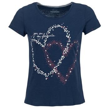 textil Mujer camisetas manga corta Esprit WEJA Marino