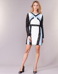 textil Mujer vestidos cortos Morgan RLIXI Blanco / Negro / Azul