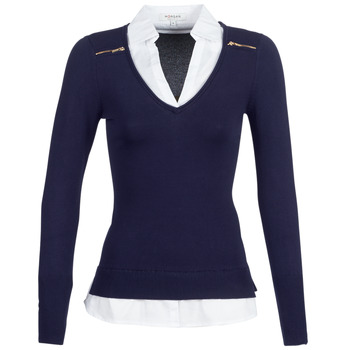 textil Mujer jerséis Morgan MYLORD Marino / Blanco