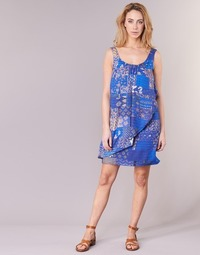 textil Mujer vestidos cortos Desigual OFFOELA Azul