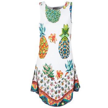 textil Mujer vestidos cortos Desigual HOQLER Blanco