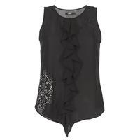textil Mujer camisetas sin mangas Desigual POALDAOR Negro