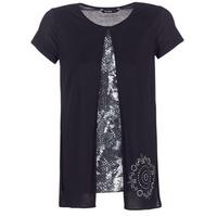textil Mujer camisetas manga corta Desigual NUTILAD Negro