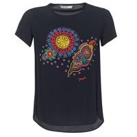 textil Mujer camisetas manga corta Desigual NAIKLE Negro