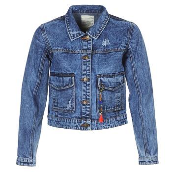 textil Mujer chaquetas denim Kaporal BUCHE Azul