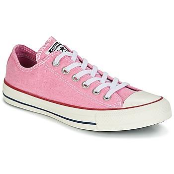 Zapatos Mujer Zapatillas bajas Converse Chuck Taylor All Star Ox Stone Wash Rosa