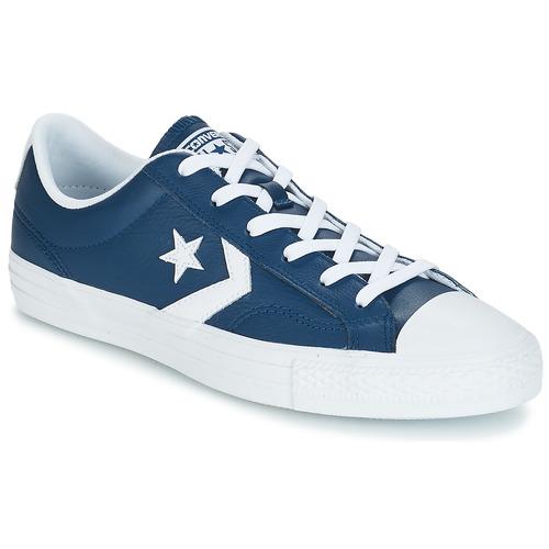 Zapatos especiales para hombres y mujeres Converse Star Player Ox Leather Essentials Marino