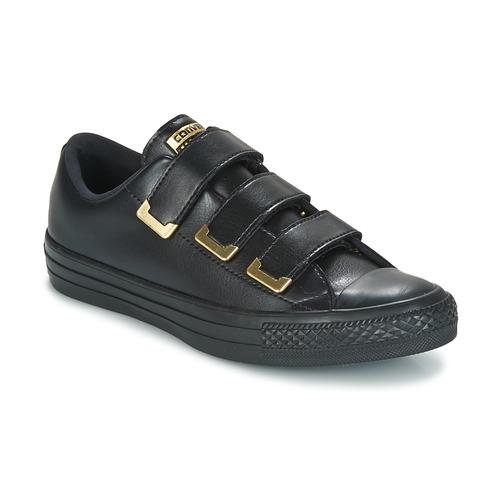 Cómodo y bien parecido Zapatos especiales Converse Chuck Taylor All Star 3V Ox SL + Hardware Negro / Dorado
