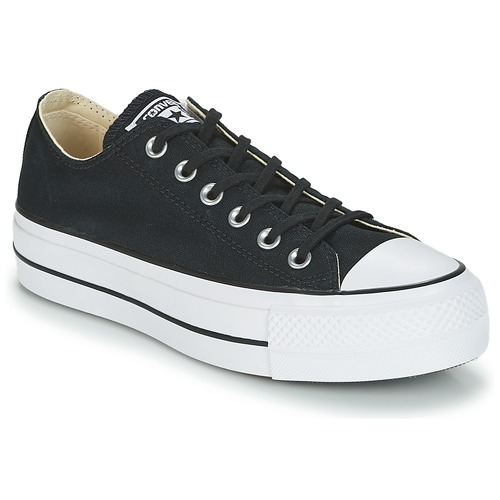 2f6b4c7fc013c Zapatos Mujer Zapatillas bajas Converse Chuck Taylor All Star Lift Clean Ox  Core Canvas Negro