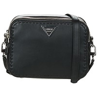 Bolsos Mujer Bandolera Guess SAWYER CROSSBODY TOP ZIP Negro