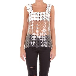 textil Mujer camisetas sin mangas Paco Rabanne 17ETTO902RHO001 Top Mujer transparente transparente