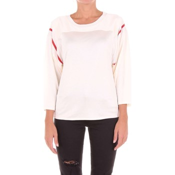 textil Mujer camisetas manga corta Mm6 Maison Margiela S32GC0433S23008 Suéter Mujer Marfil Marfil