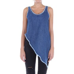 textil Mujer camisetas sin mangas McQ Alexander McQueen 459648RJD02 Top Mujer Jeans oscuros Jeans oscuros