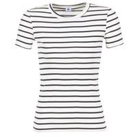 textil Mujer camisetas manga corta Petit Bateau  Blanco / Marino