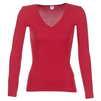 textil Mujer Camisetas manga larga Petit Bateau  Rojo