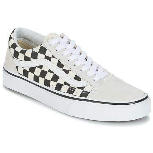 Zapatos especiales para hombres y mujeres Vans OLD SKOOL Blanco / Negro