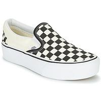 Zapatos Mujer Slip on Vans SLIP-ON PLATFORM Negro / Blanco