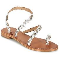Zapatos Mujer Sandalias Les Tropéziennes par M Belarbi BALI Blanco / Oro