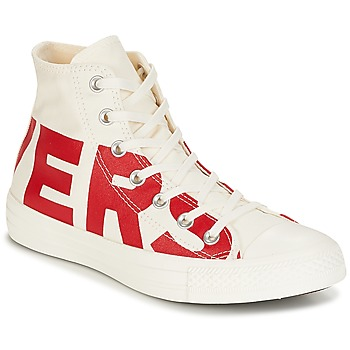 Zapatos Zapatillas altas Converse Chuck Taylor All Star Hi Converse Wordmark Blanco / Rojo