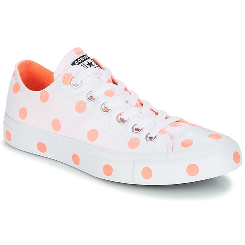 Casual salvaje Zapatos especiales Converse Chuck Taylor All Star-Ox Blanco / Naranja