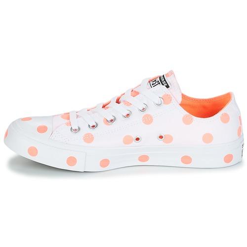 Zapatillas Chuck Converse Zapatos Star Taylor All Bajas ox Mujer BlancoNaranja D29EHI