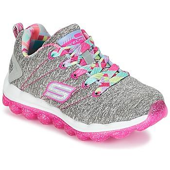 Zapatos Niña Zapatillas bajas Skechers SKECH-AIR Gris / Rosa