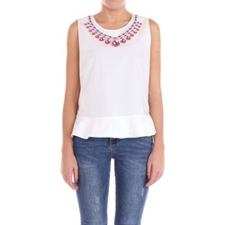 textil Mujer Tops / Blusas Moschino Couture 02140435 Top Mujer Blanco Blanco