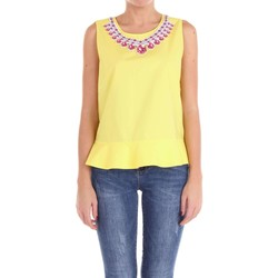 textil Mujer Tops / Blusas Moschino Couture 02140435 Top Mujer amarillo amarillo