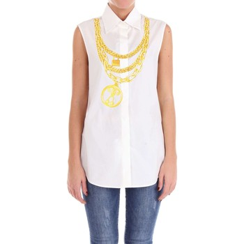 textil Mujer Tops / Blusas Moschino Couture 02120435 Camisa Mujer Blanco Blanco
