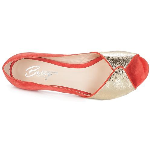 De Mujer Esquibe Betty Zapatos Tacón London Coral 8OP0wknX