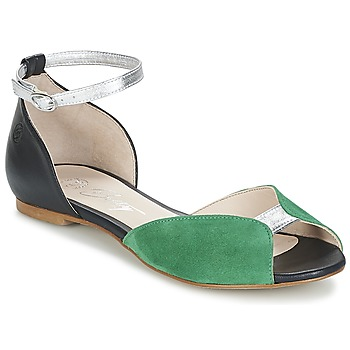 Zapatos Mujer Sandalias Betty London INALI Negro / Plateado / Verde