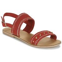 Zapatos Mujer Sandalias Betty London IKARI Rojo