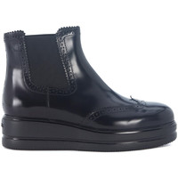 Zapatos Mujer Low boots Hogan Polacco  H323 in pelle nera Negro