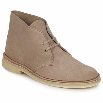 Zapatos Hombre Botas de caña baja Clarks DESERT BOOT Arena