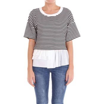 textil Mujer jerséis Moschino Boutique 12020827 Suéter Mujer Blanco y negro Blanco y negro